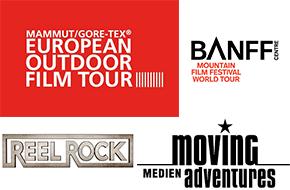 Logos der Moving Adventures Outdoor Film Touren
