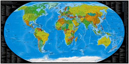 Weltkarte der Top-Level-Domains Vorschaubild